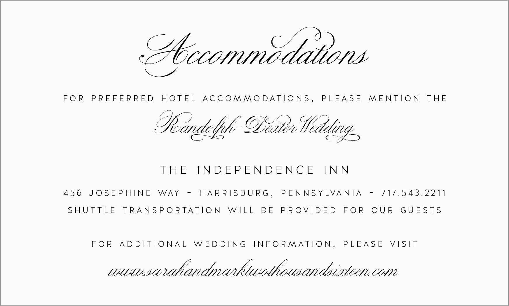 Luxury Free Wedding Accommodation Card Template Best Of Template For Wedding Hotel Informatio Wedding Direction Cards Wedding Directions Wedding Accommodations