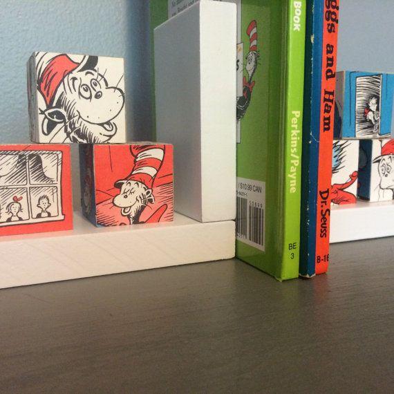 Dr Seuss Bookends, Dr Seuss Blocks, Nursery Bookends
