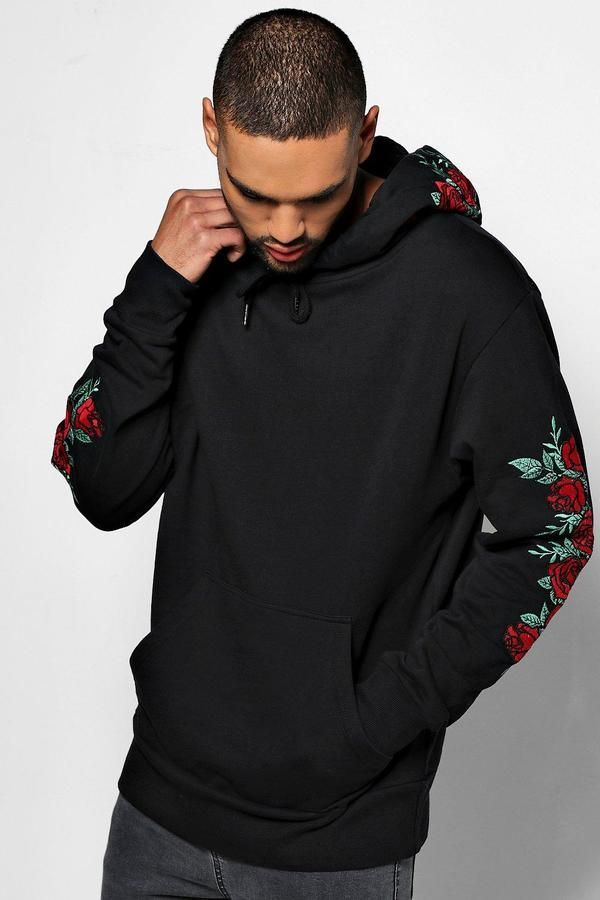 ec36f7ea Over The Head Hoodie With Rose Embroidery in 2019 | Products ...