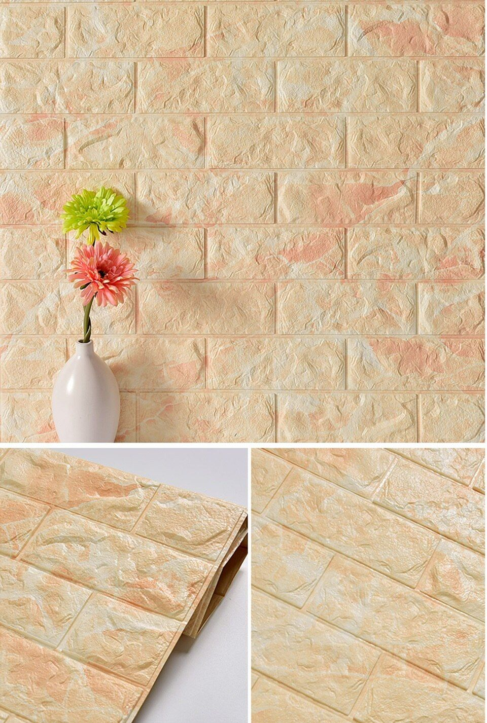 Waterproof Foam Brick 3d Wall Panel Diy Self Adhesive Wallpaper For Kids Room Bedroom Wall Decor 3d In 2020 Wall Paneling Diy Brick Living Room Brick Wall Living Room