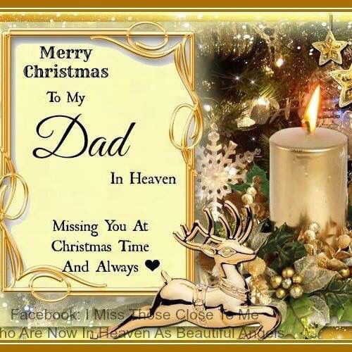 Merry Christmas Dad Mom Heaven And
