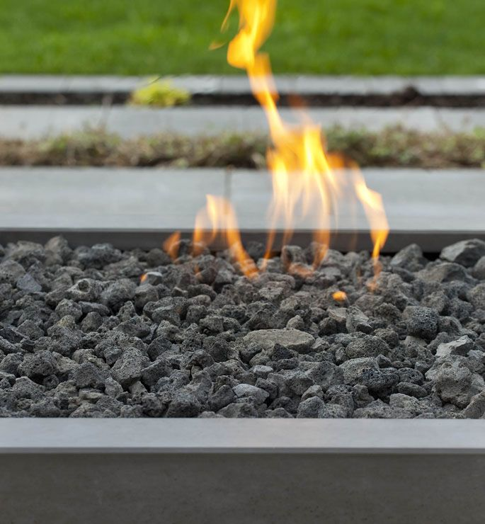 Modern Fire Pit Toppings Lava Rock River Stones And Glass