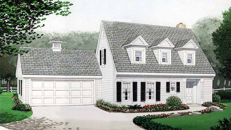 Cape cod garage plans cape cod house plans with garage for Cape code house plans
