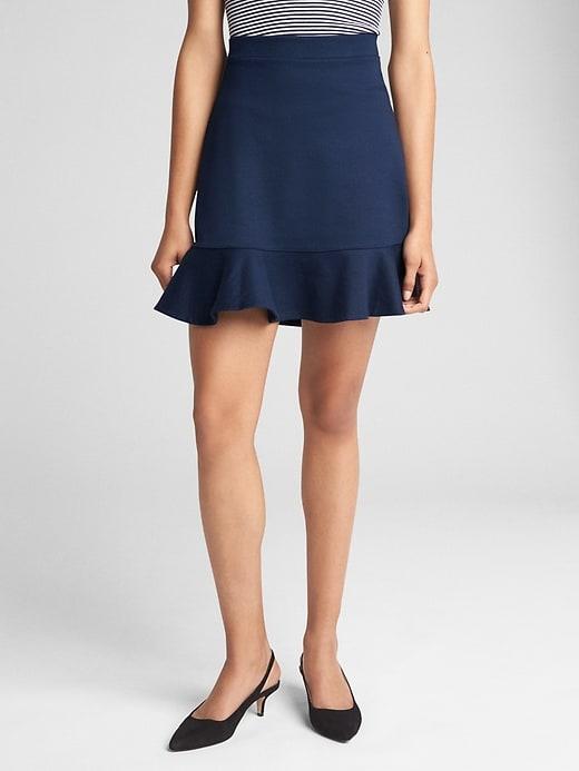 137f651340 Gap Womens Flippy Skirt In Ponte True Indigo | Products | Flippy ...