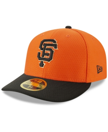 finest selection 2c7a0 cf03f New Era San Francisco Giants Batting Practice Low Profile 59FIFTY-fitted  Cap - Black 6 7 8