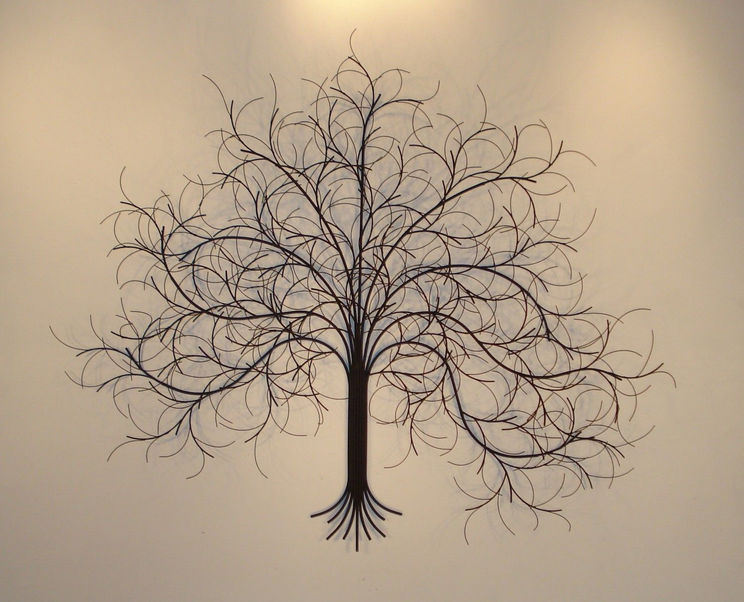 Large Metal Tree Wall Hanging March Tree Metal Wall Art With Reflections  Frames And Pictures