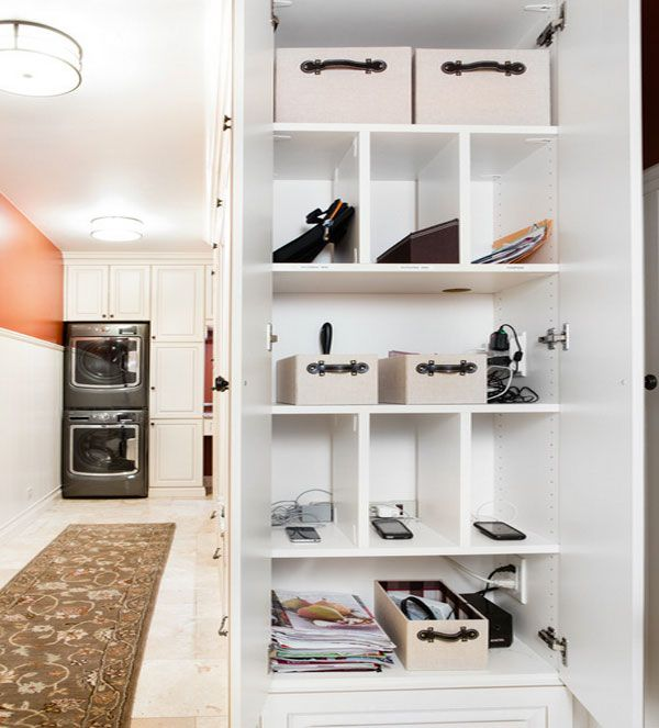 Storage Laundry Room Organization Kitchen Pantry Storage: Mobile Device Charging Stations For A Neat And Tidy Space