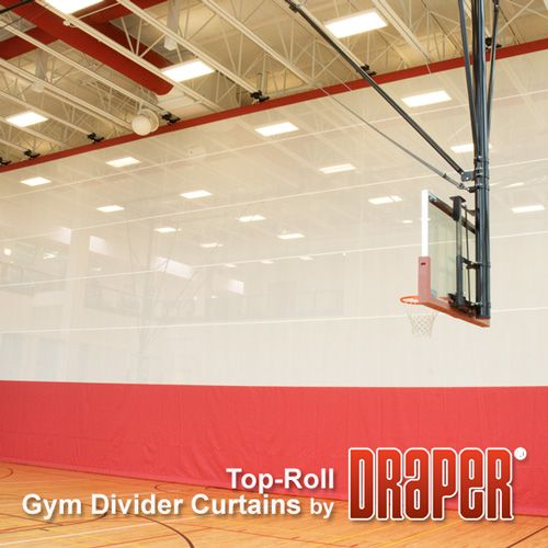 Top Roll Gym Divider Curtains Draper Inc Divider School