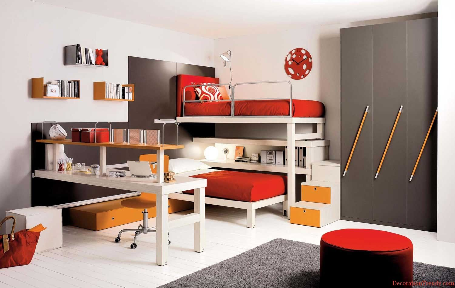 Corner loft bed ideas  lots of storage in a small space  Design  Pinterest  Of Ikea