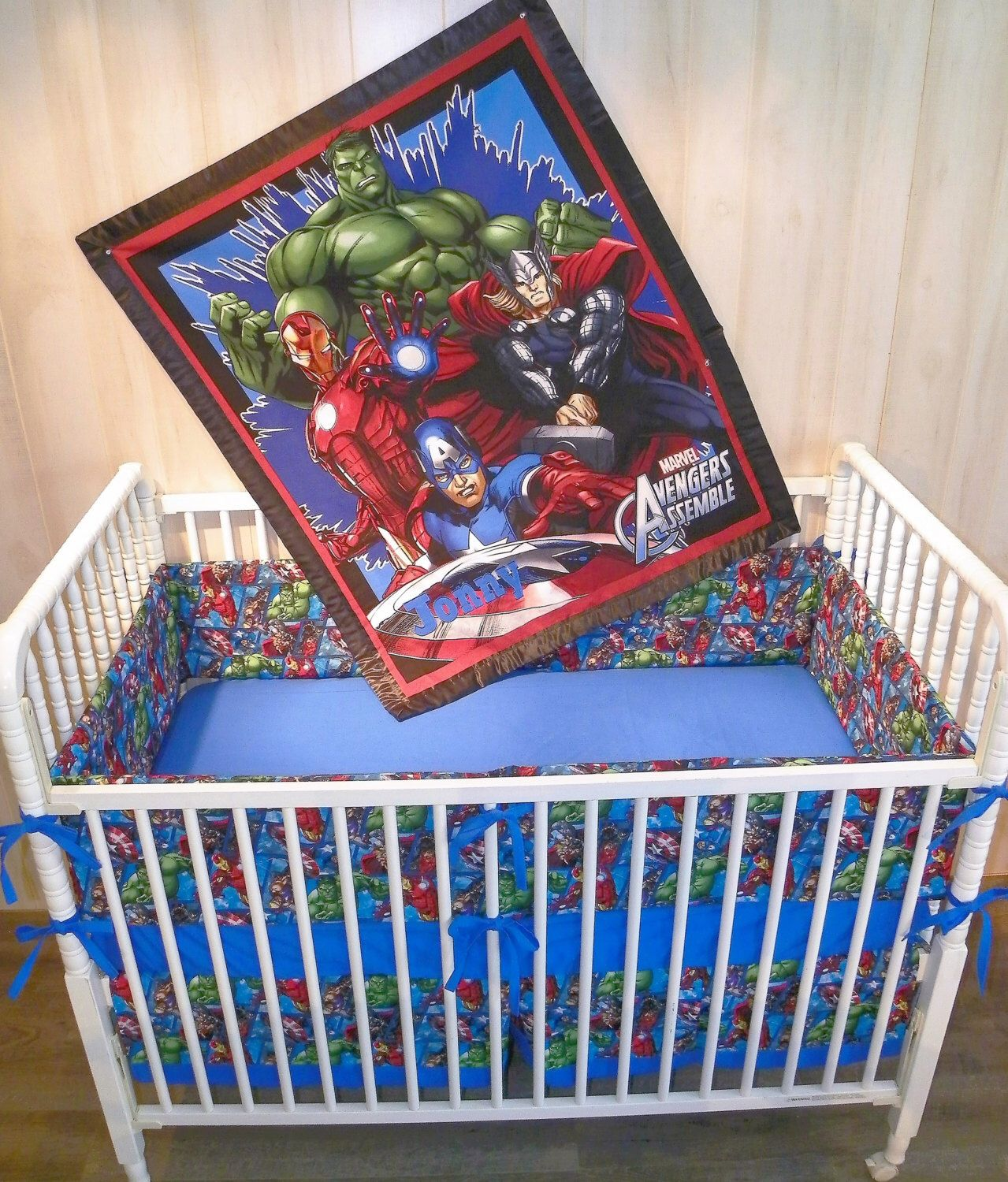 Best 4Pc Avengers Crib Bedding Set By Rissasragstostitches On 400 x 300