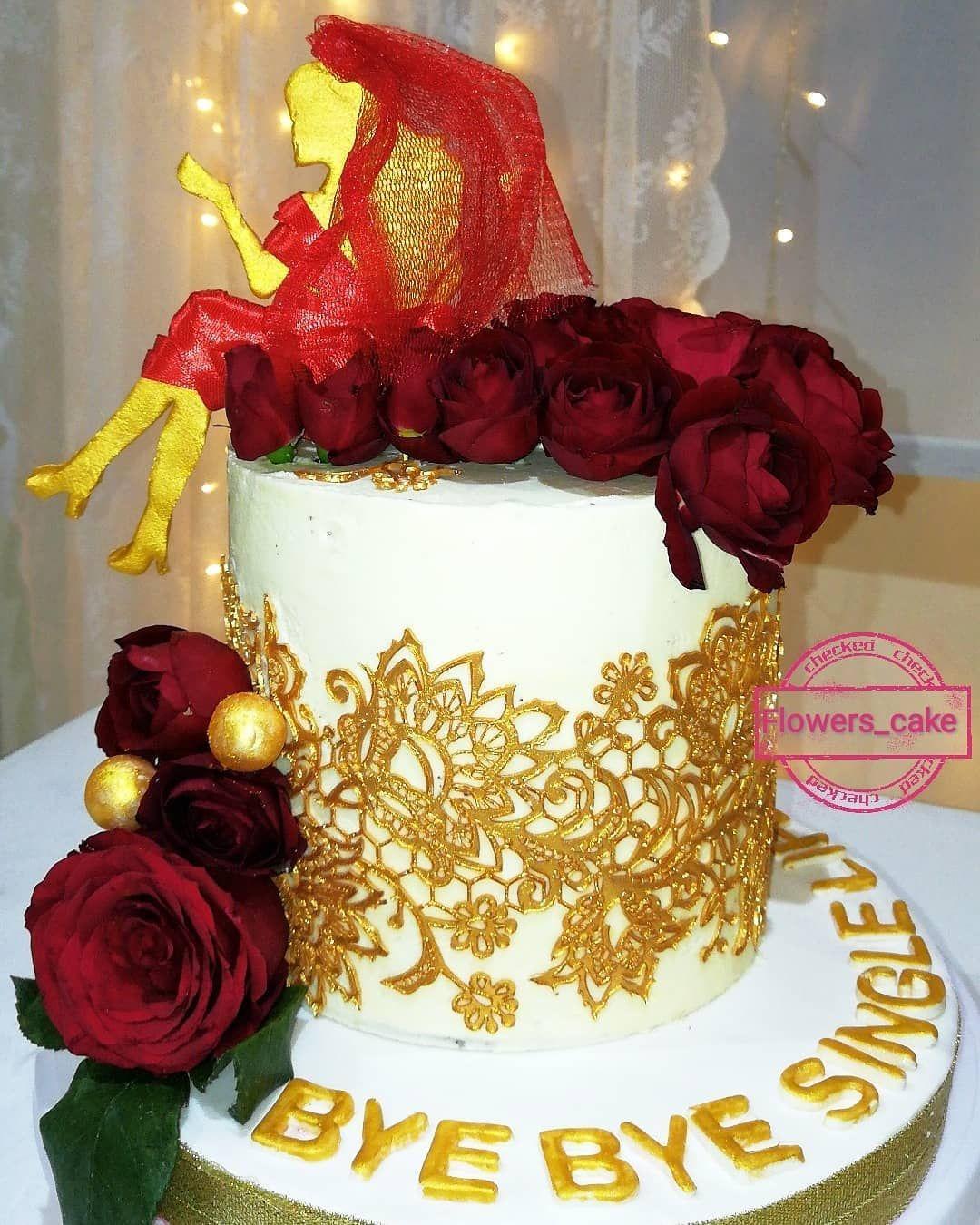 ماشاء الله كيكة توديع عزوبية مبروك عروستنا الجميلة حلويات حلا كيكات كيكاتي كيكات جده كيكات تخرج كويكز كيكة تخ Cake Birthday Cake Desserts