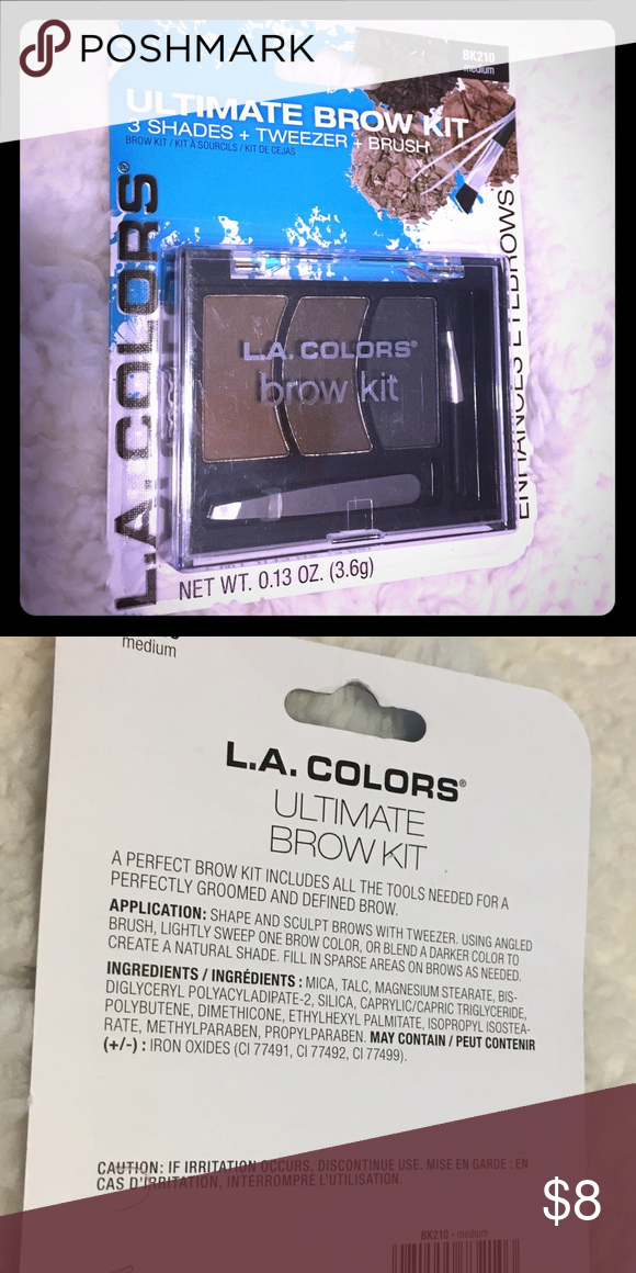 BRAND NEW LA Colors Ultimate Brow Kit👁👁 BRAND NEW LA Colors Brow Kit🌺 Make your brows mod!  3 colors (stated Medium). My daughter is a pro at this!  👁👁Tweezer & Brush! LA Colors Makeup Eyebrow Filler
