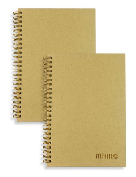 a5 size kraft paper hardcover dot grid spiral notebook set