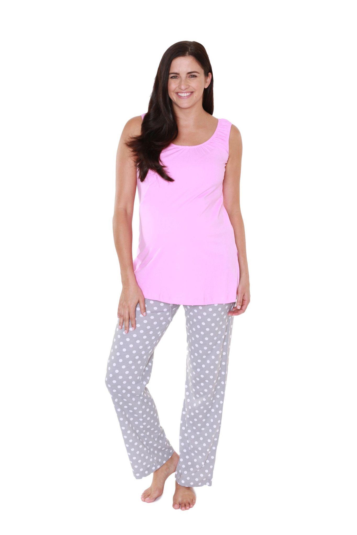 5f3856658f4fb Lisa Maternity / Nursing Pajama Set | Maternity Pajamas | Maternity ...