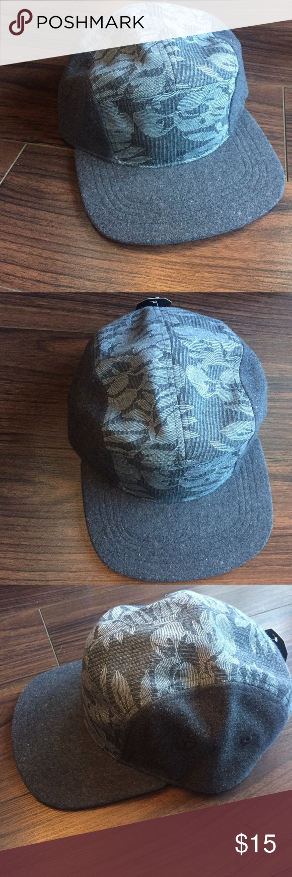 f85a8aff502 Grey Floral Street Wear Cap 🔥SAMPLE. PacsunFree ...