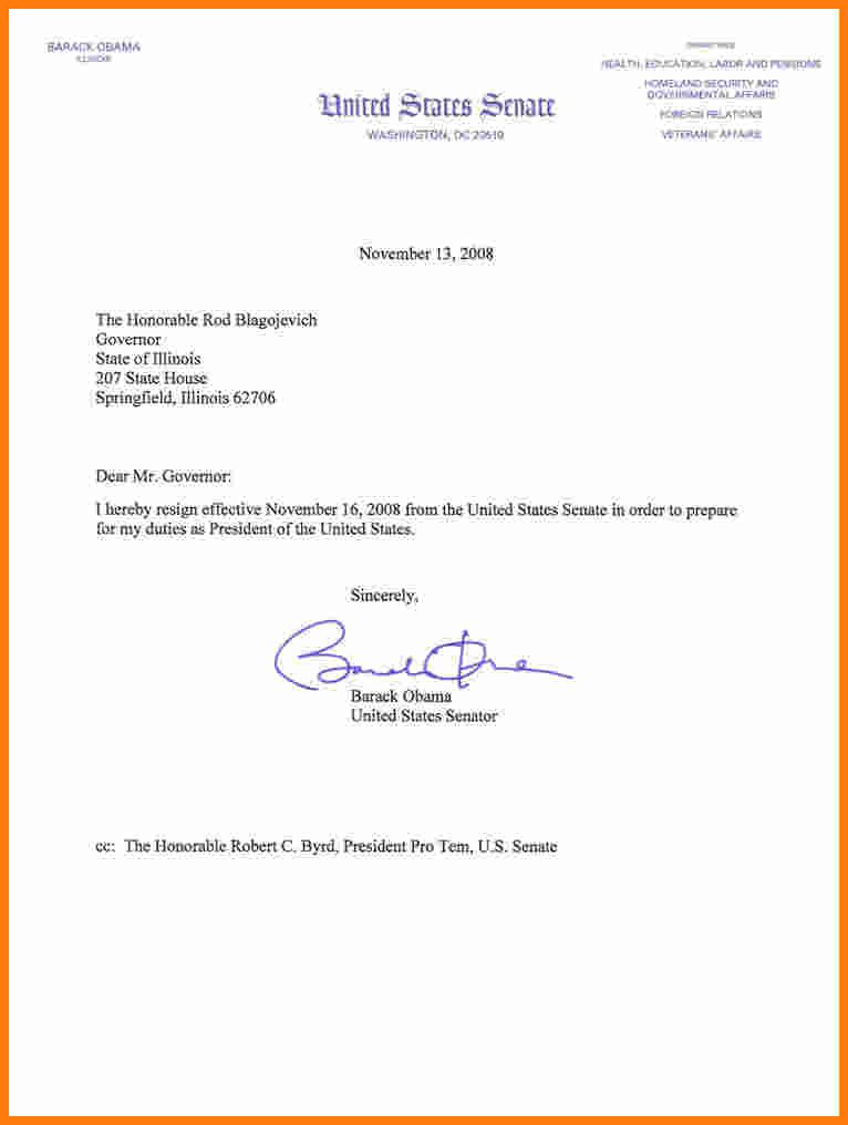 How Write Resign Letter Barack Obama Resignation Letterg From