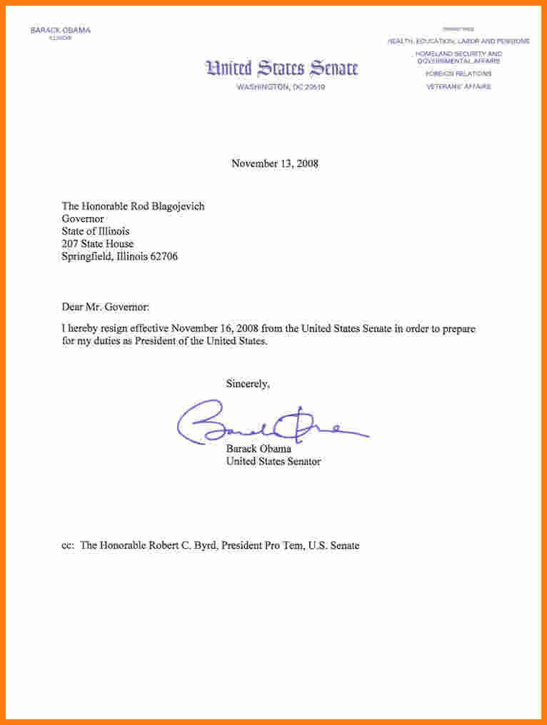 How Write Resign Letter Barack Obama Resignation Letterg From