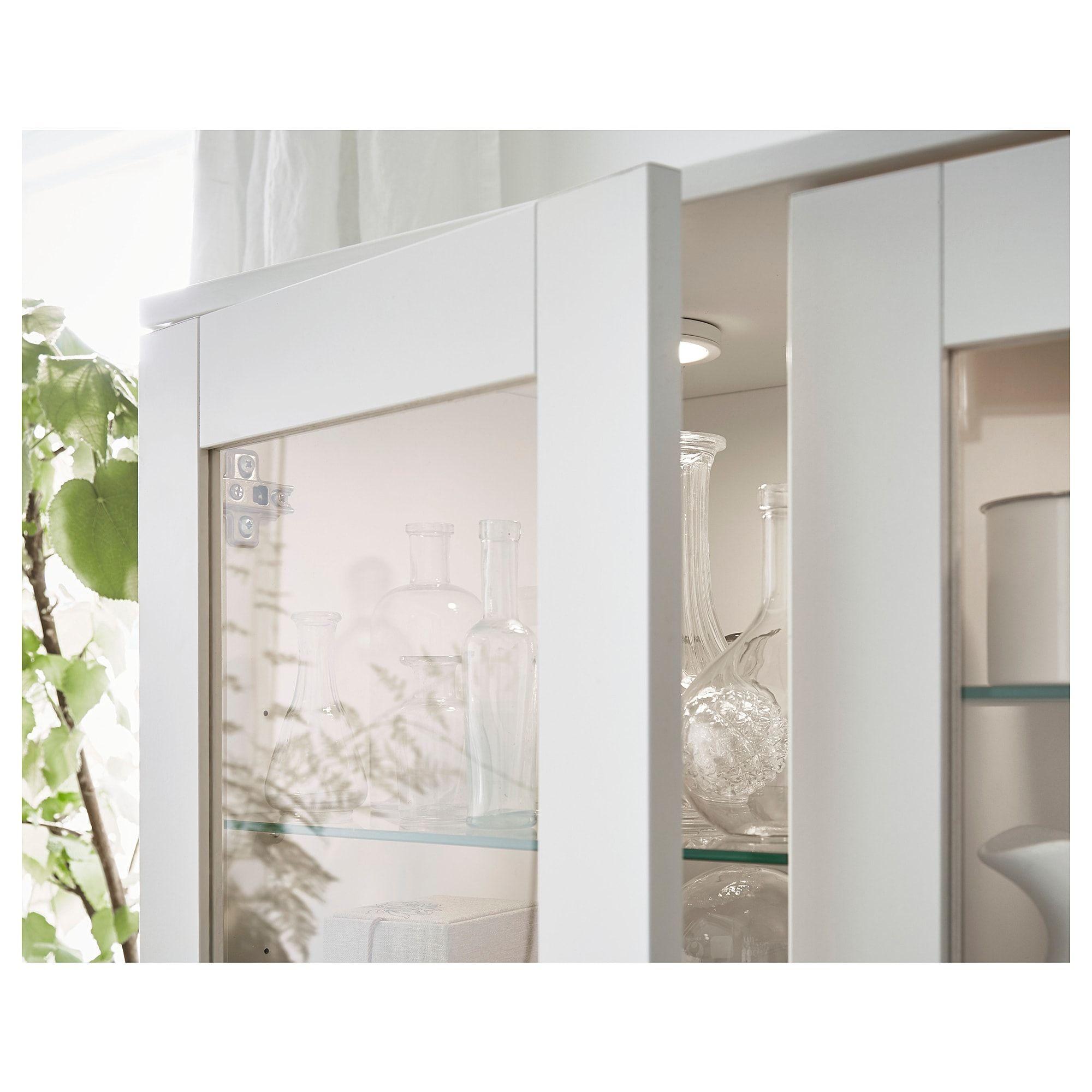 Ikea Brimnes Storage Combination W Glass Doors White Glass