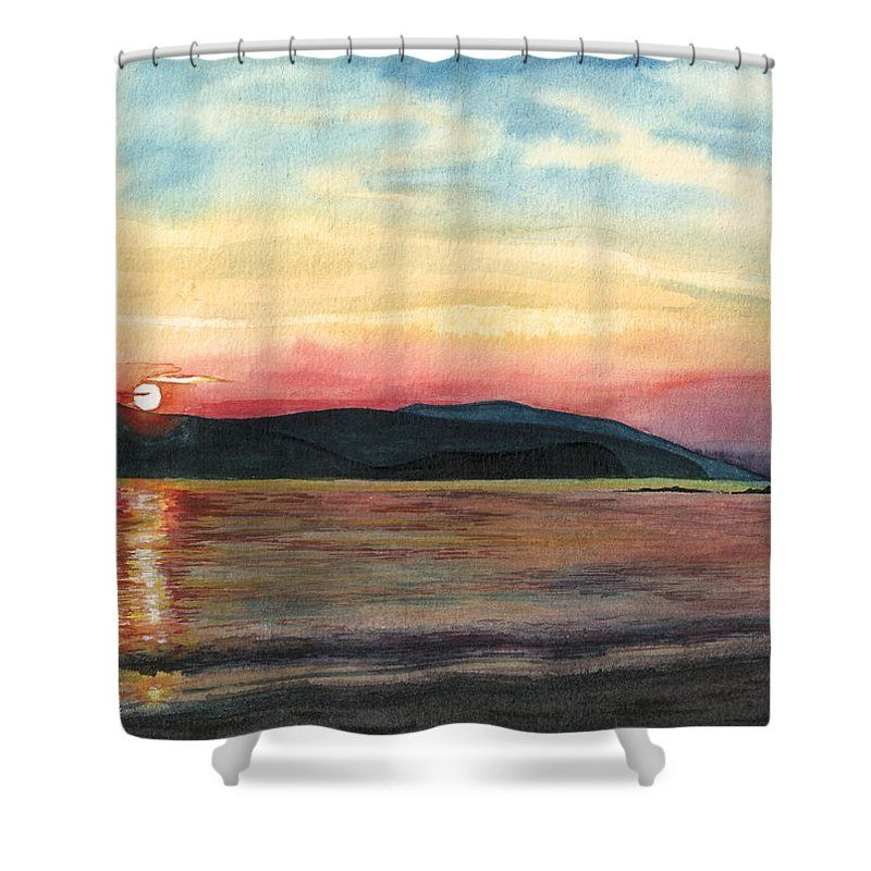 Greek Sunset Shower Curtain For Sale By Olivia C Curtains For