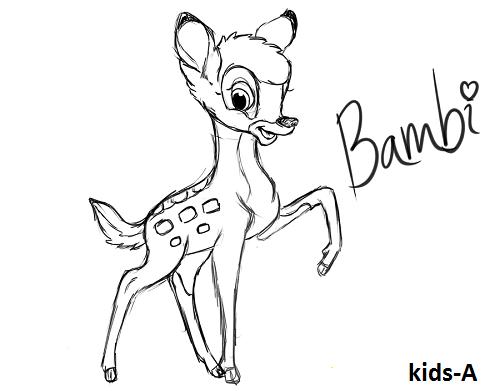 bambi zeichnen schritt f schritt
