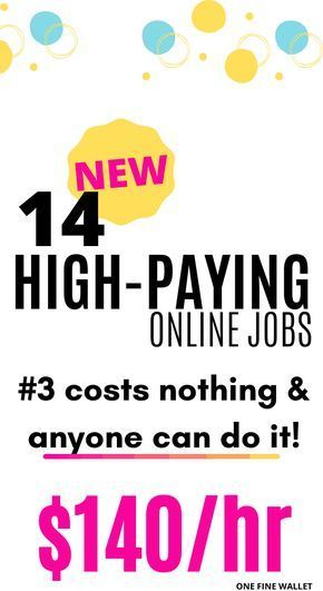 14 High Paying Online Jobs from Home {2020} - over $45,000/mo #Jobs #Home #High