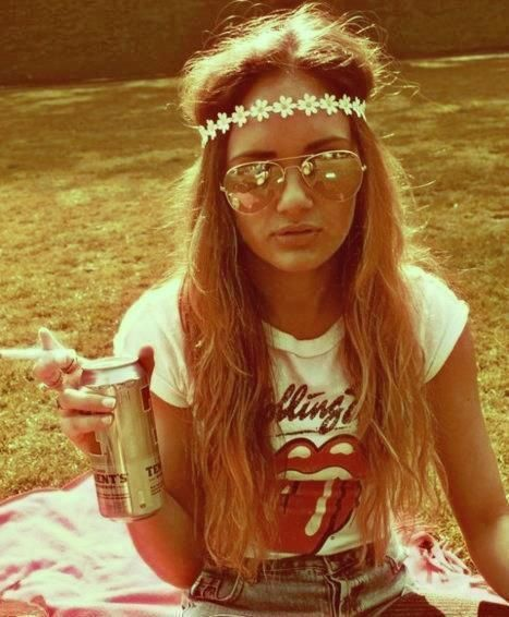 Peinados hippies mujer