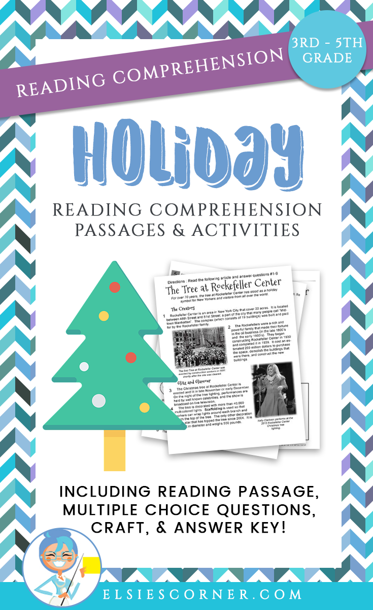 Christmas Reading Comprehension Passage - Questions and foldable ...