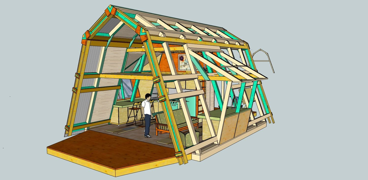 Modified a frame house plans you and your wacky sketch for A frame style house plans