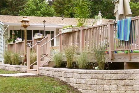 Retaining Wall Around Deck Landscaping Around Deck