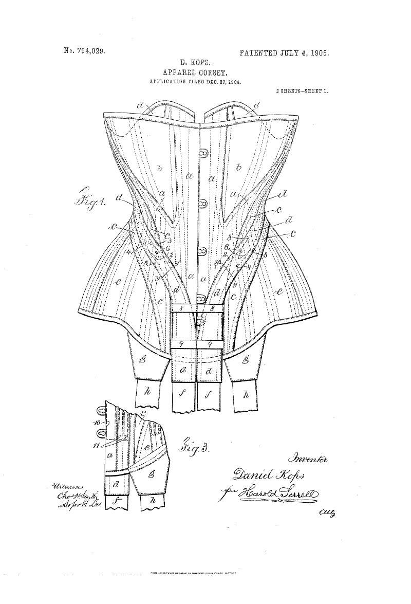 1904 corset patent. This would look cool framed. | For the Home ...