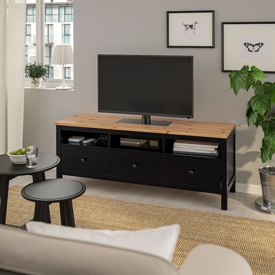 Hemnes Tv Unit Black Brown Light Brown 58 1 4x18 1 2x22 1 2 Ikea Hemnes Tv Bench Tv Unit [ 900 x 900 Pixel ]