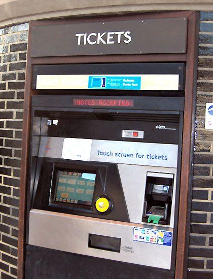 London Underground ticket machine | London underground ...