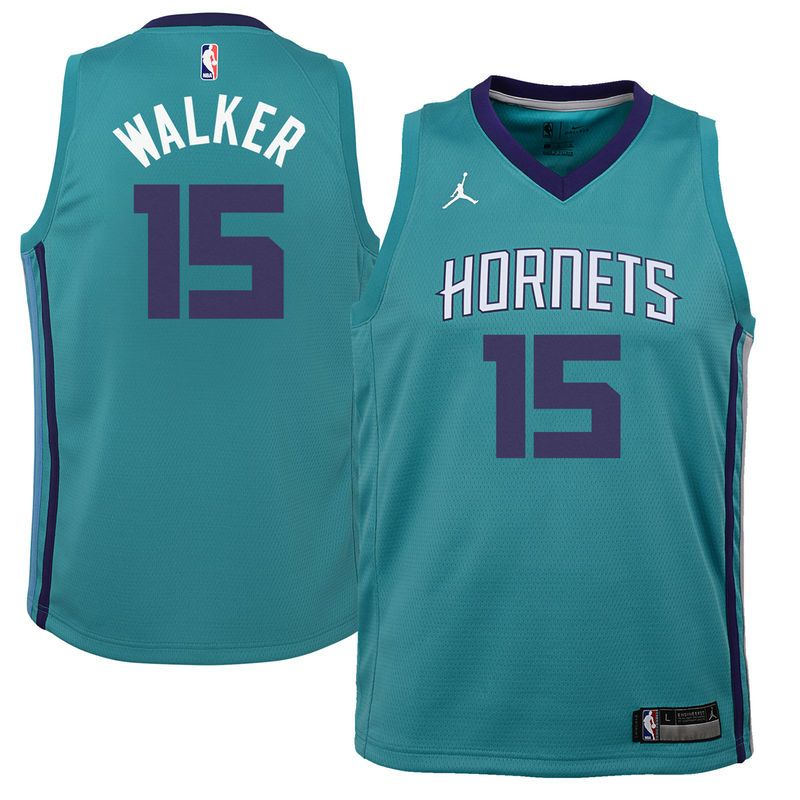 Kemba Walker Charlotte Hornets Jordan Brand Youth Swingman Jersey Teal - Icon  Edition f33a6b9ed