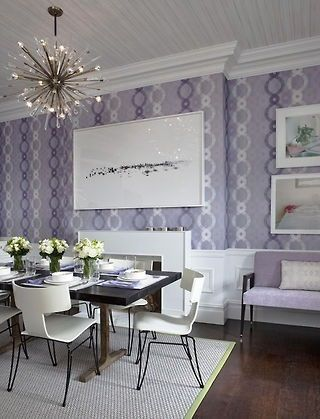 Lavendar, black  white Living room Home Decor Inspiration