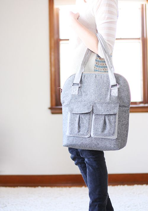 bag of the month: sewing up a Bye Bye Love Bag - Noodlehead