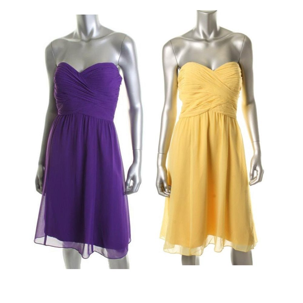3c39a3ca686 Details about ralph lauren harriett purple yellow chiffon strapless  cocktail prom dress new jpg 1000x1000 Ralph
