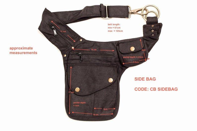 Utility Belt Belt bag Fanny Pack Money Belt festival bag Festival belt Vegan Bag Bumbag Pocket Belt