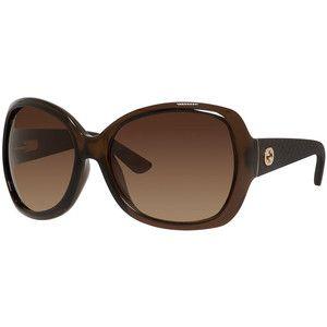 444c886cf51 Gucci Sunsights Oversized Diamantissima Square Sunglasses