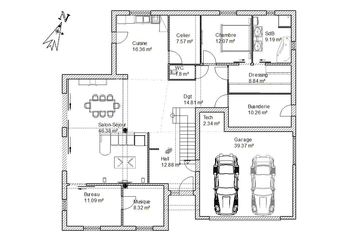 Résultat de recherche dimages pour plan maison cube toit plat plansmaquettedessin pinterest