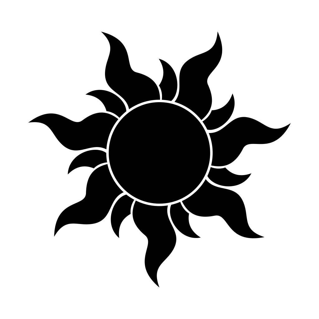 Sun silhouette. Snowman graphics svg dxf