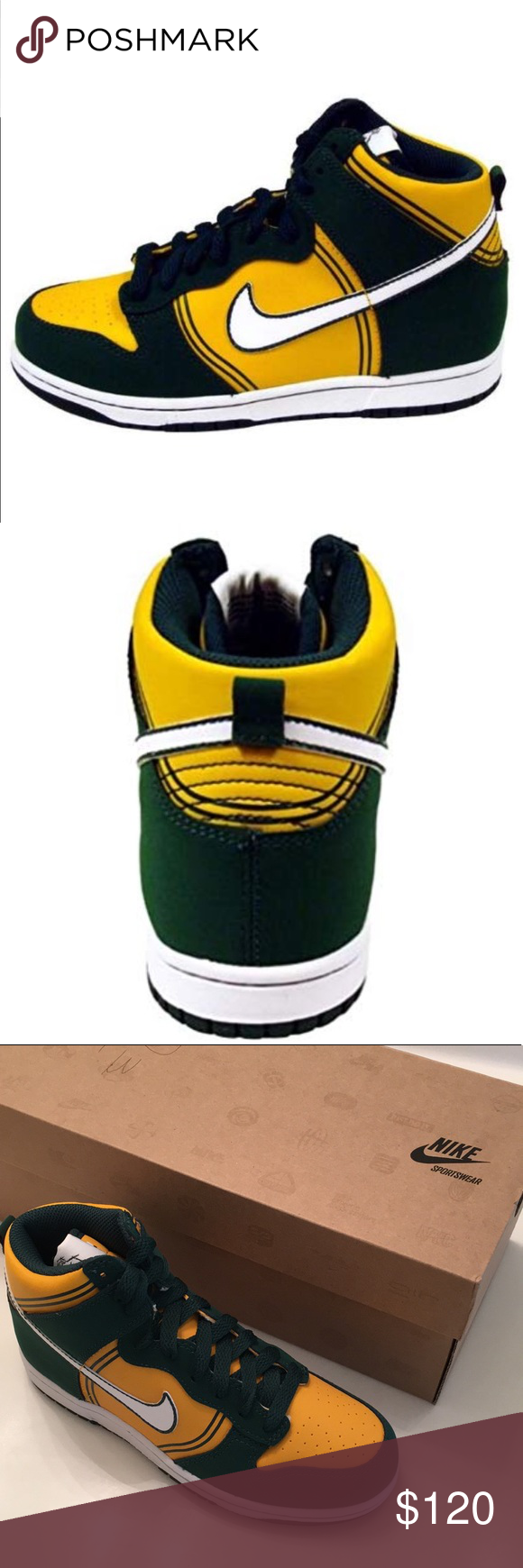 brand new bd573 4c688 Nike Kids  Dunk Hi Casual Jamaican Shoes (Rare) The Nike Dunk High Kids   Casual Basketball Shoes mark the style of a legend and your own individual  ...