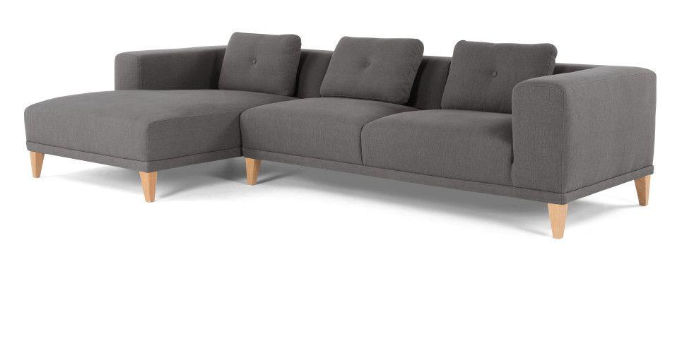 Sullivan Ecksofa Recamiere Links Grau Made Com Ecksofa Sofa Recamiere