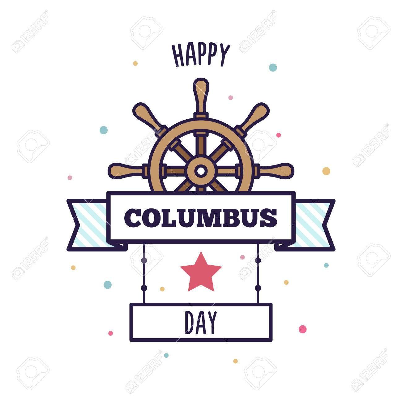 Happy Columbus Day Vector Illustration Ad Columbus Happy Day Illustration Portfolio Template Design Portfolio Templates Graphic Design Portfolio