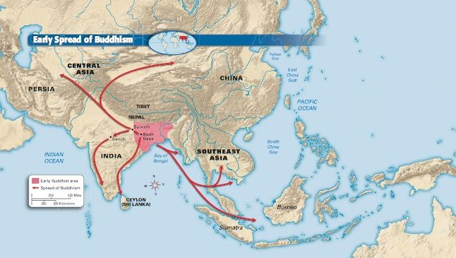 Map of Spread of Buddhism | Lilia Nicholson - Silk Road ...