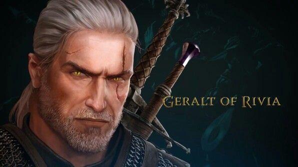 Geralt http://www.deviantart.com/art/The-Witcher-Adventure-game-art-Dandelion-425626723
