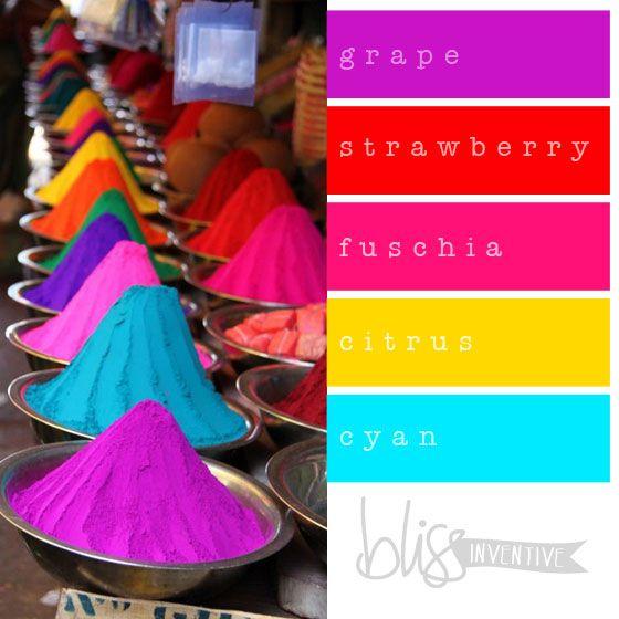 {COLOUR POP} Warm + Pastel + Fluro Colour Palettes - Bliss Inventive