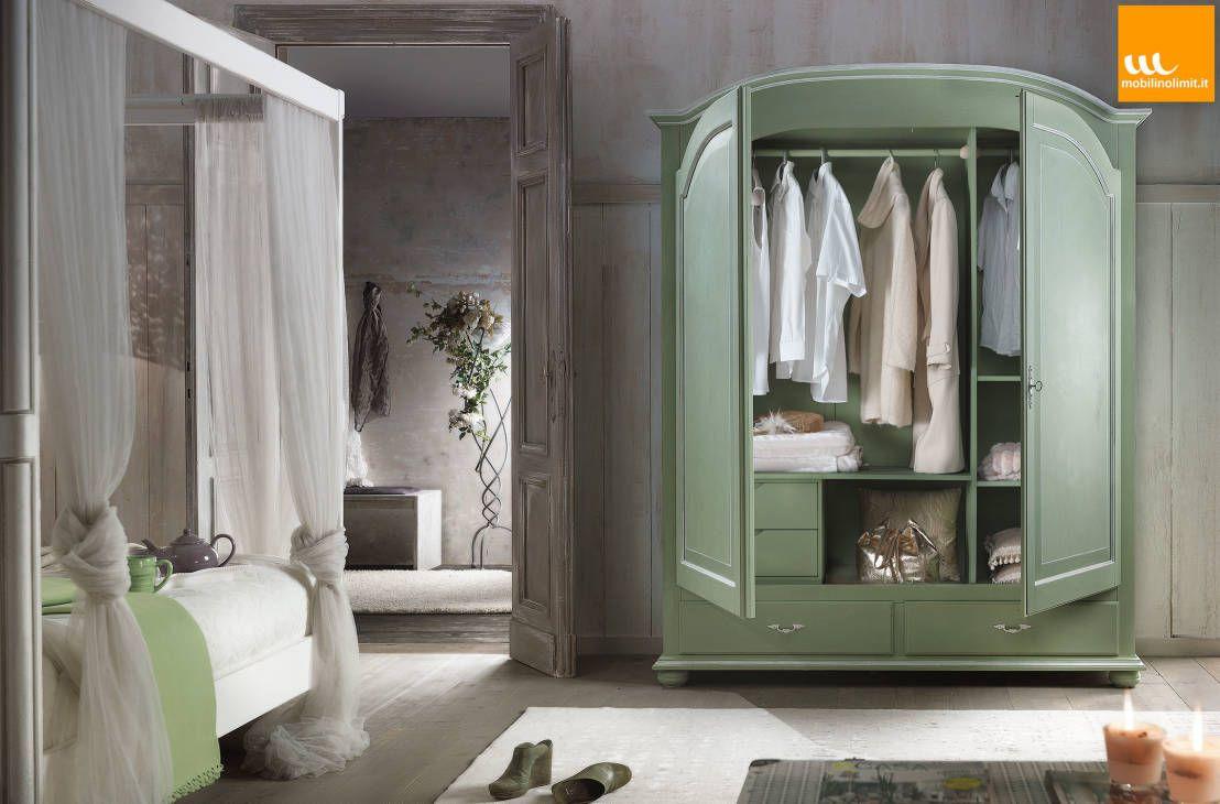 Mobilinolimit ~ Armadio verde shabby chic : wardrobes & closets by mobilinolimit