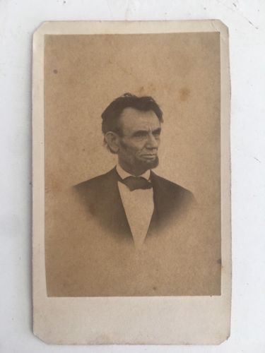ORIGINAL 1865 CARTE DE VISITE OF THE LAST PHOTO LINCOLN RARE