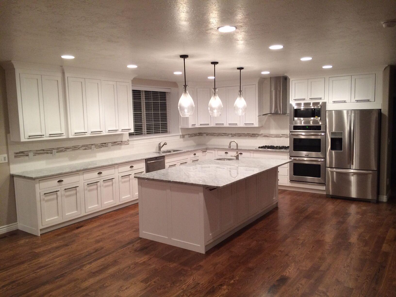 White Cabinets Hardwood Floors