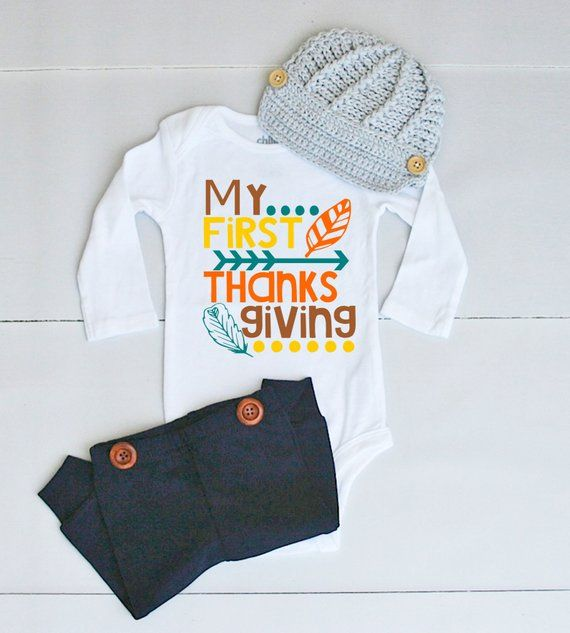 aa1863a494ee2 My 1st Thanksgiving Outfit - Thanksgiving Outfit for Baby Boy - Thanksgiving  Onesie® for Baby Boy -